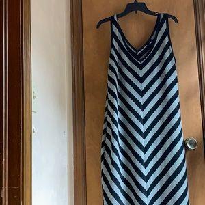 Mossimo Supply Co. Dresses - Midi dress, gray and black stripes.